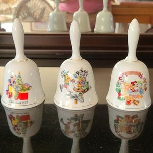 Vintage Disney Collectible bells - set of 3